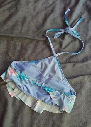 Верх от купальника бандо купальник тропический принт asos new look victoria's secret4 фото
