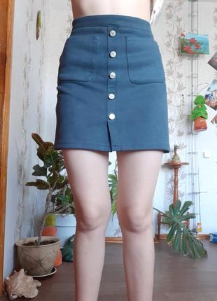 Классная юбка трапеция замшевая