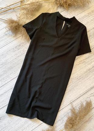 Мега стильное прямое платье с вырезом dorothy perkins из плотного шифона ⠀