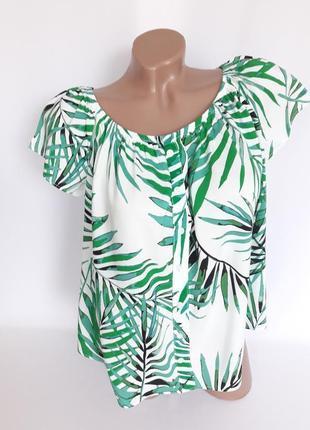 Шикарная блуза в тропические мотивы