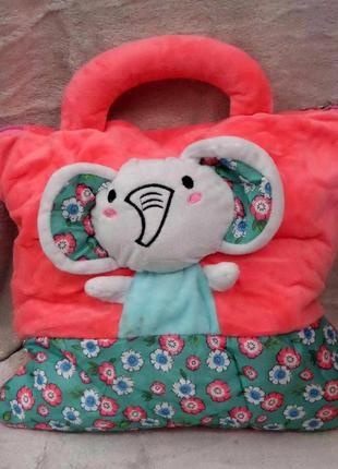 Плед - мягкая игрушка 3 в 1 слоник