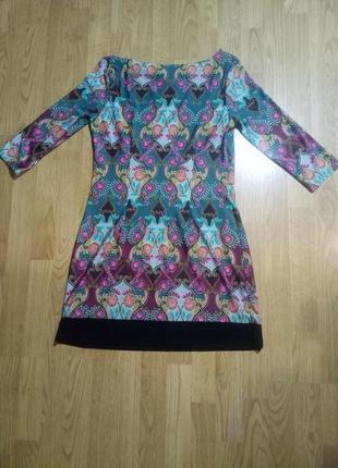 Платье туника прямое м орнамент платье шифт