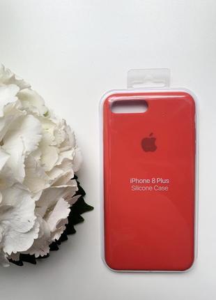 Чехол  силиконовый для iphone 7+/8+ красного цвета silicone case