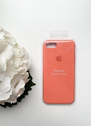Чехол силиконовый для iphone 7/8 оранжевого цвета silicone case