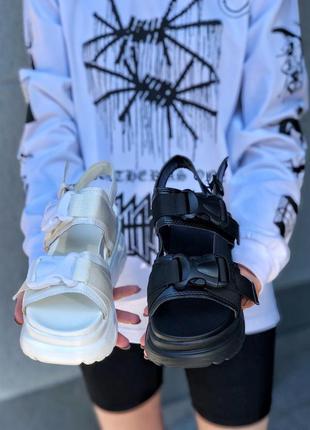 Хит 2020 босоножки на платформе сандали карго с ремешками