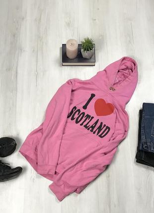 Худи розовое scotland