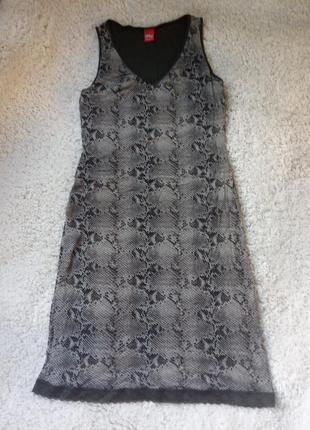 Платье сарафан с принтом