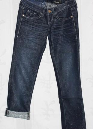 Джинсы бриджи guess, оригинал джинсовый 25р