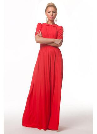 Продам випускне плаття червоного кольору+бжутерiя в подарунок