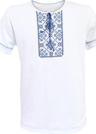 Трикотажная вышиванка.вишиванка для хлопчика № 204 з довгим або коротким рукавом