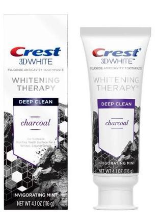 Отбеливающая зубная паста с углем crest 3dwhite whitening therapy charcoal