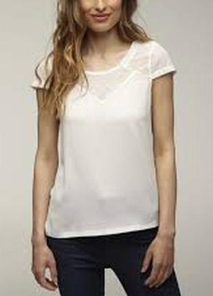 Белый топ футболка naf naf