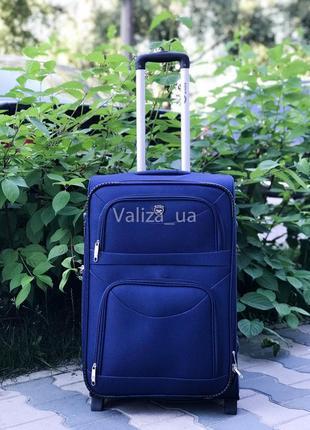 Аспродажа! средний текстильный чемодан тканевый чемодан польша / валіза середня