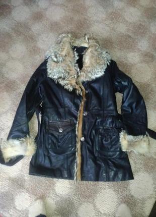 Кожаная куртка м