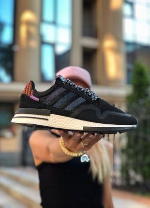 Женские кроссовки adidas адидас весна осень лето цвет чёрный