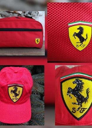 Ferrari оригинал голограмма косметичка кепка