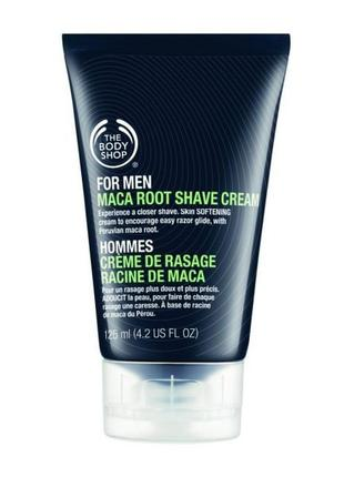 Крем для бритья корень маки и алоэ, англия, the body shop