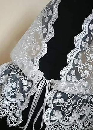 Хустинка накидка, платок кружевной