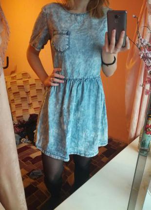Стильне джинсове плаття