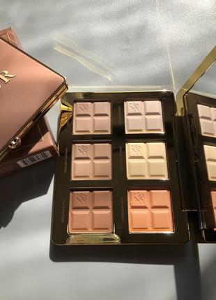 Палетка контуров и хайлайтеров too faced cocoa contour palette