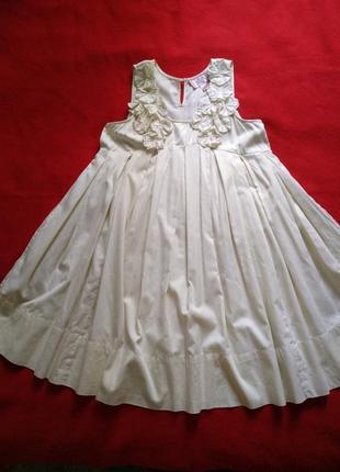 Натуральное платье клеш💐