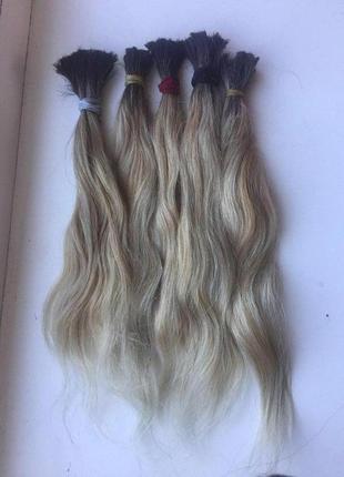 Волосы натуральные омбре 35 см 115 грамм