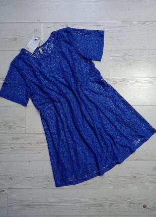Кружевное платье 2 в 1 свободного кроя р.8