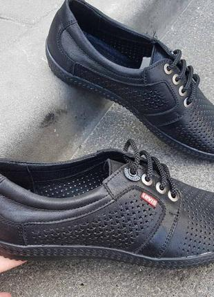Летние мужские кожаные туфли наложенный платеж обмен возврат