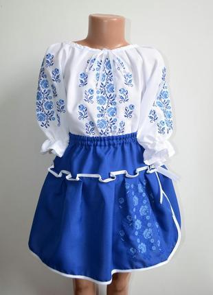 Вишитий костюм, вишиванка, костюм з вишивкою для дівчинки 8-10 років