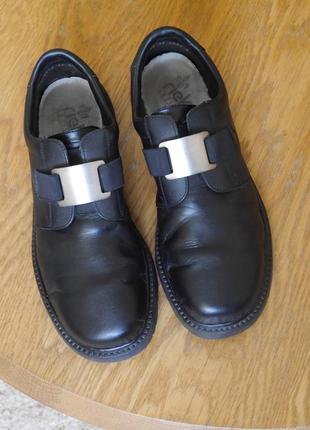 Туфлі шкіряні чорні розмір 45 стелька 29,2 см rieker