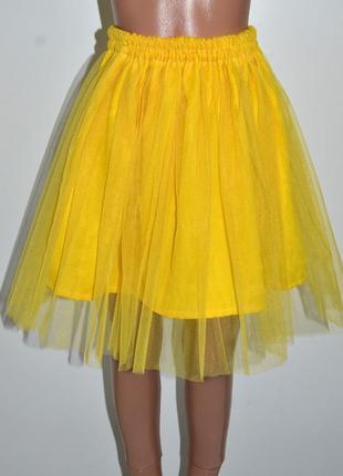 Спідничка з фатином,юбка фатиновая,жовта спідничка фатинова 6-8 років