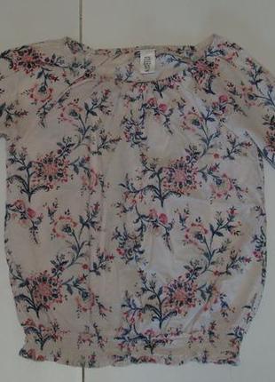 Блуза в цветочки l.o.o.g. h&m. акция 4=5