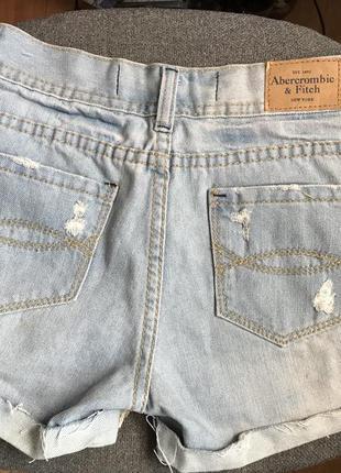 Новые джинсовые шорты abercrombie&fitch