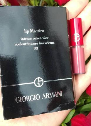 Жидкая помада для губ giorgio armani lip maestro intense velvet color