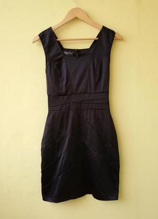 Маленькое черное платье missguided атлас сатин