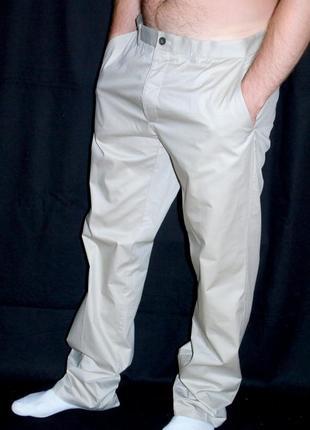 H & m шикарные светлые летние брюки - l - xl
