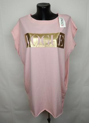 Платье туника новая розовая итальянская с потайными карманами