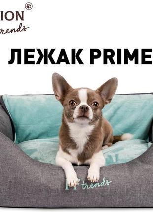 Лежак со съемным ковриком prime 66х52х24 см производитель pet fashion