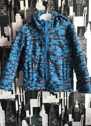 Голубая куртка весна-осень