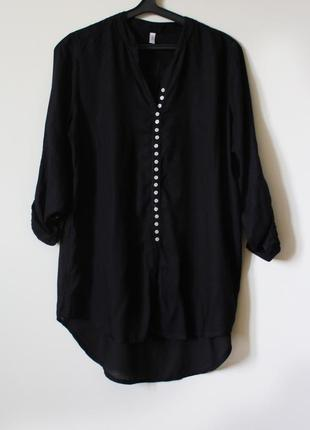 Чёрная вискозная рубашка only