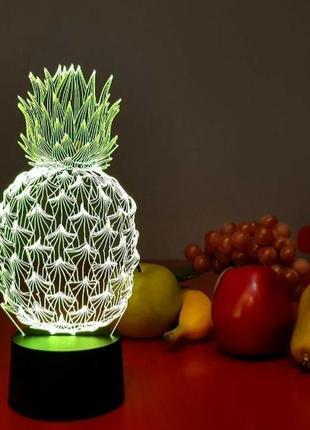 Светильник ночник ананас