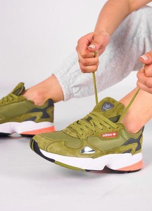 Adidas falcone кроссовки адидас в зеленом цвете (36-40)