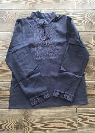 Вышиванка сорочка рубашка с вышивкой для мальчика цвета р.122-140 наложенный платеж
