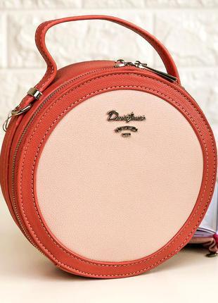 Женская сумка клатч круглой формы david jones