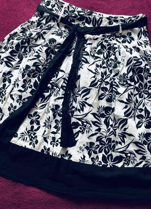 New look легкая натуральная юбка
