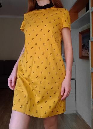 Платье прямое с плотной ткани