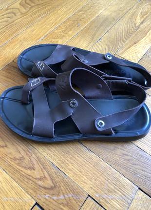 Босоножки сандали кожаные 40р 26см шкіряні босоніжки сандалі