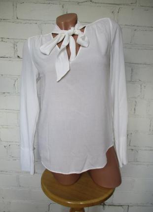 Блуза молочного цвета вискозная/вискоза/xs-s