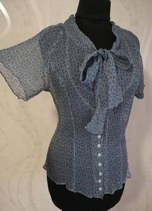 Шёлковая блуза, блузка с галстуком zapa