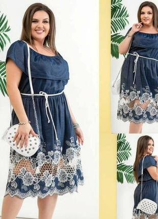 Джиновое платье1 фото